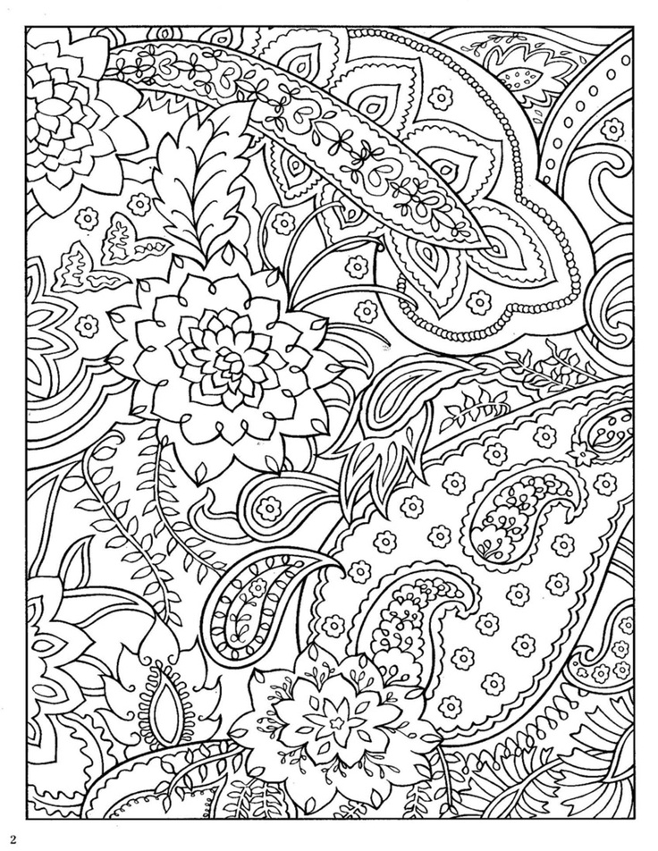 Free Printable Paisley Coloring Pages For Adults at GetColorings