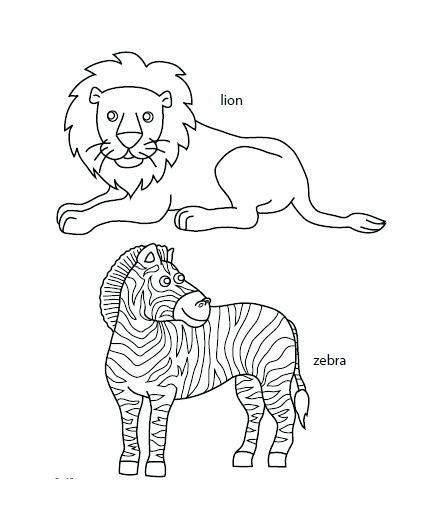 grassland coloring pages african page