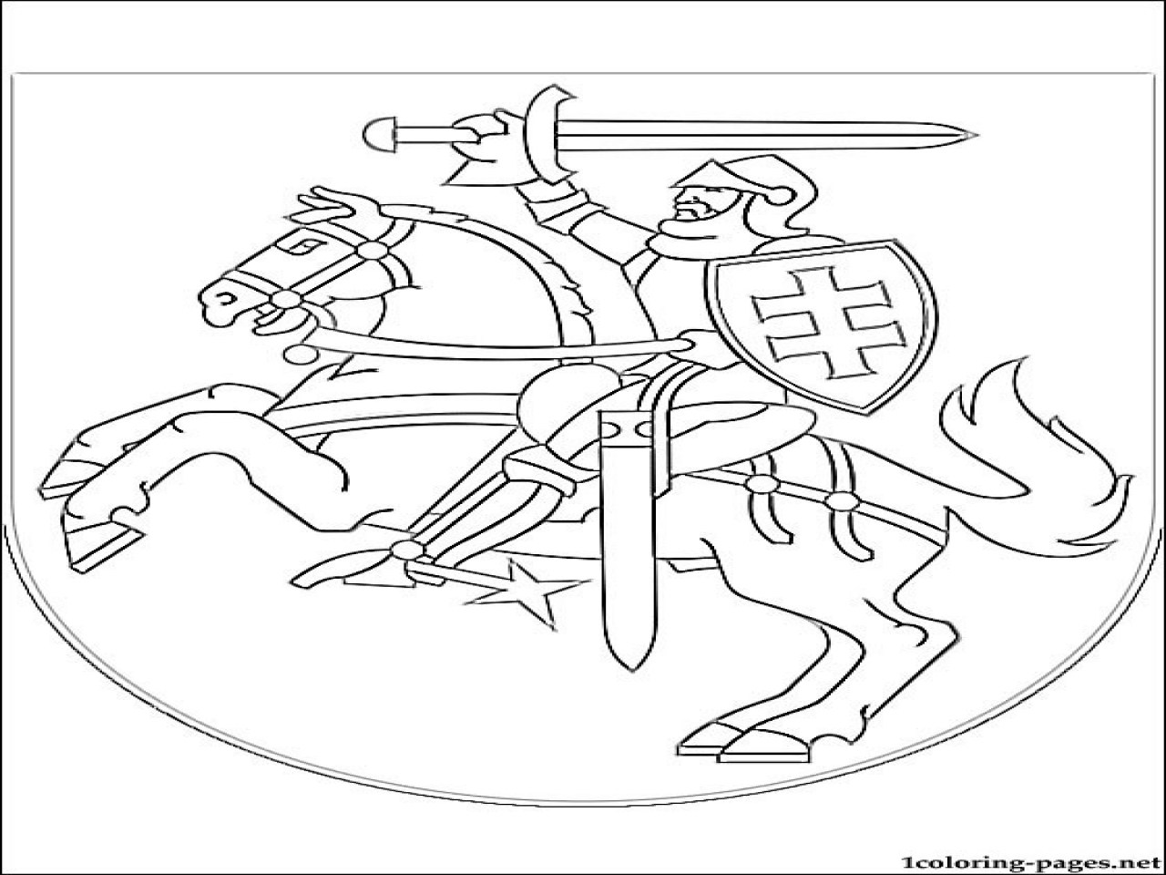 Norway Flag Coloring Page
