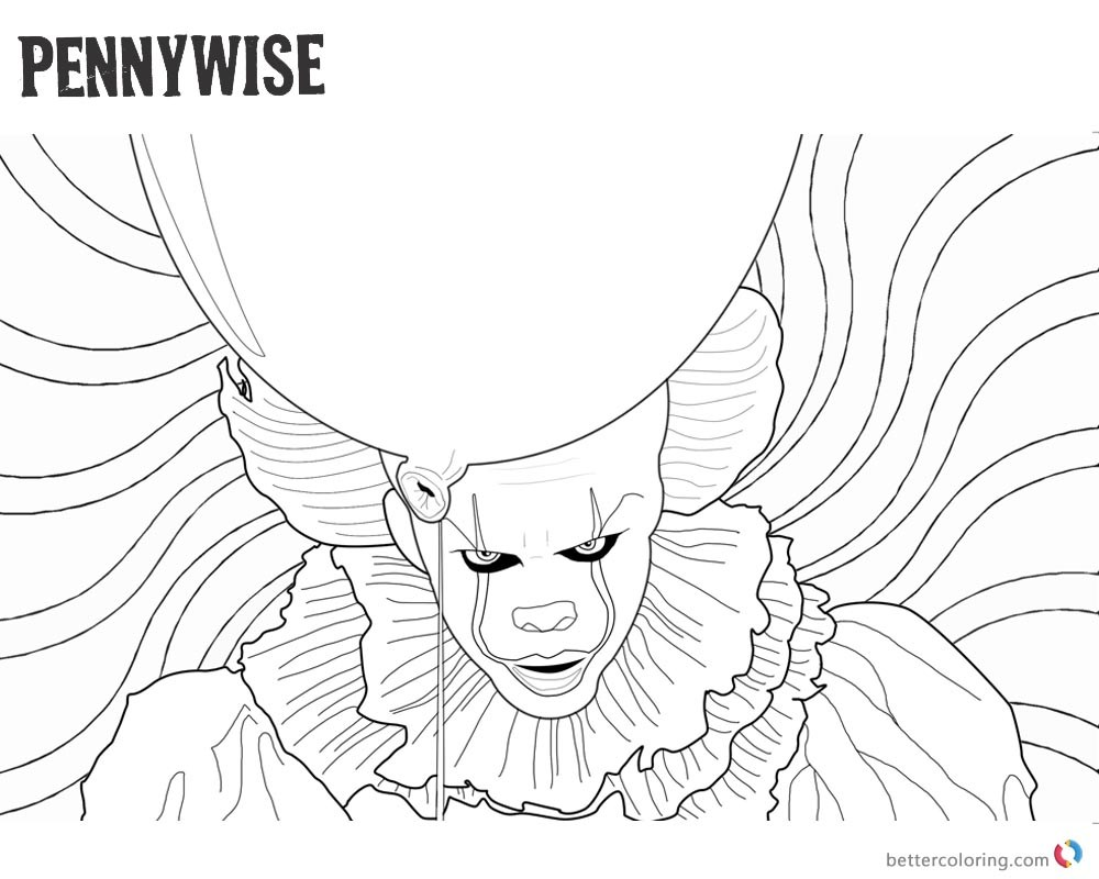 Pennywise Coloring Pages Arenda Stroy