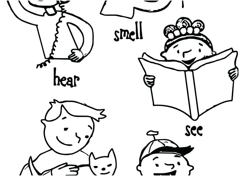 5 Senses Coloring Pages at GetDrawings Free for personal use 5