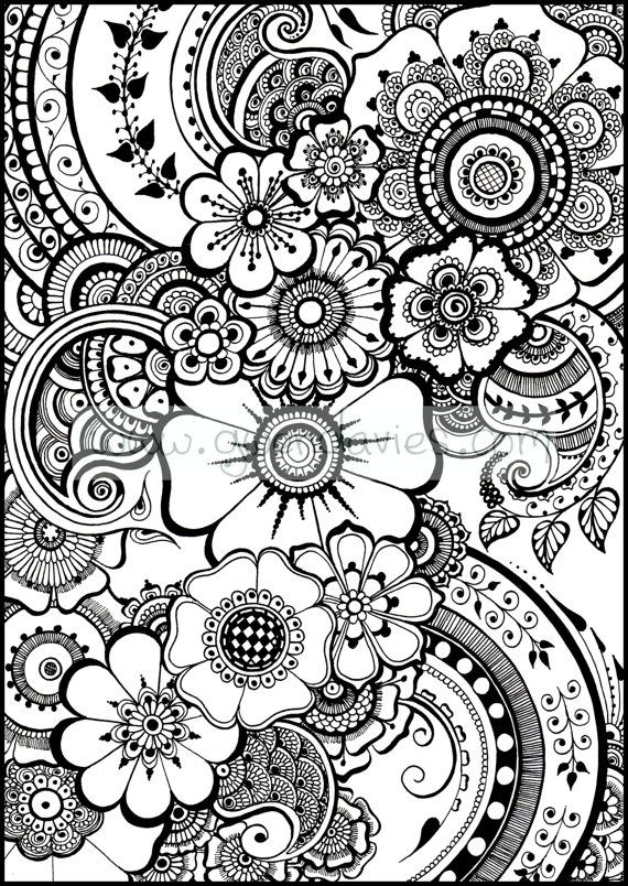 Adult Coloring Pages Patterns Flowers at GetDrawings Free for