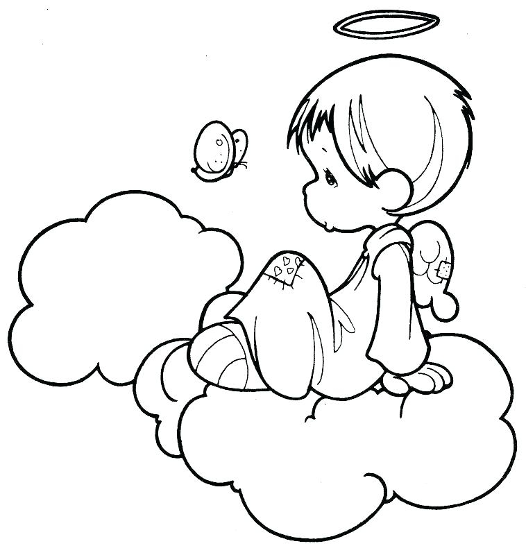 Angel Coloring Pages For Kids at GetDrawings Free for personal