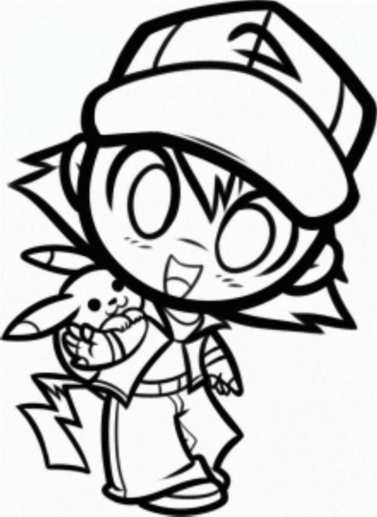 Ash Pokemon Coloring Pages at GetDrawings Free for personal