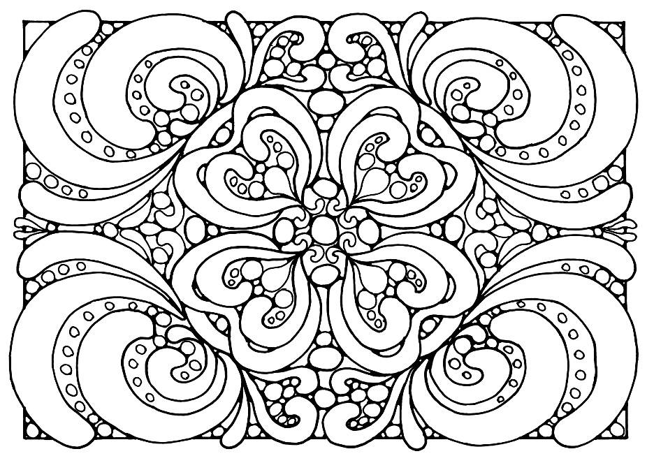Blank Coloring Pages For Adults at GetDrawings Free for