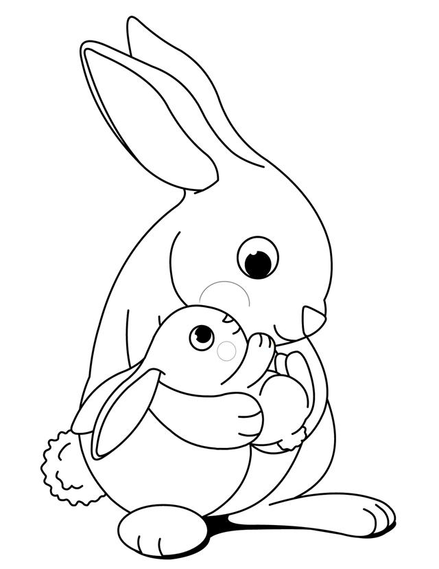 Bunny Coloring Pages Free Printable at GetDrawings Free for