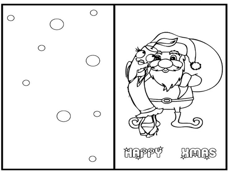Christmas Card Coloring Pages at GetDrawings Free for personal