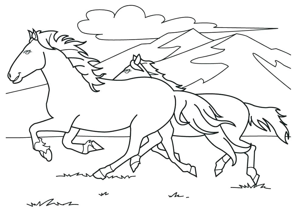 The best free Horse head coloring page images Download from 6109