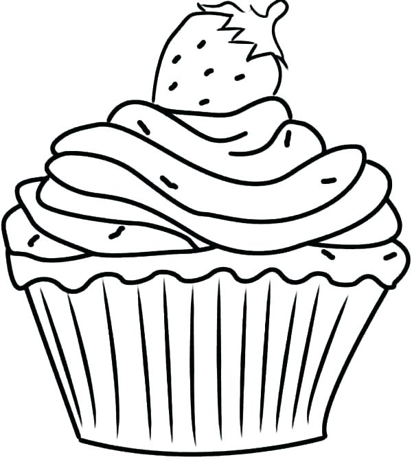printable birthday cupcakes  cakes coloring pages birthday