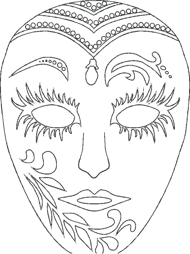 Free Printable Mardi Gras Coloring Pages at GetDrawings Free