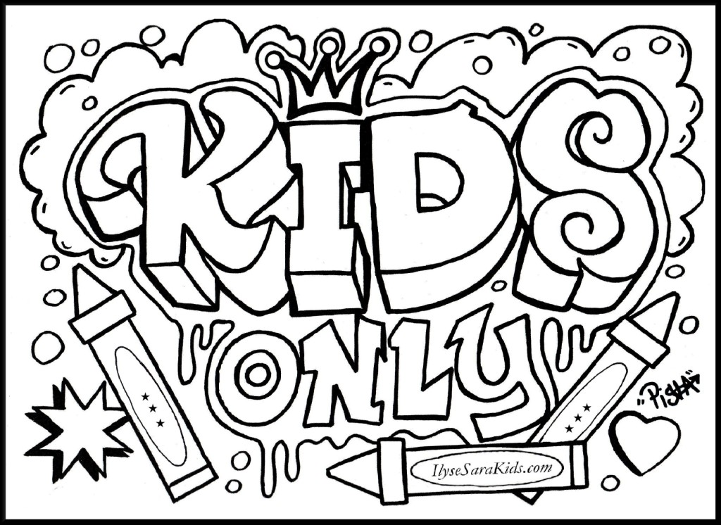 Graffiti Letters Coloring Pages at GetDrawings Free for