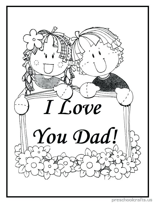I Love You Dad Coloring Pages at GetDrawings Free for personal