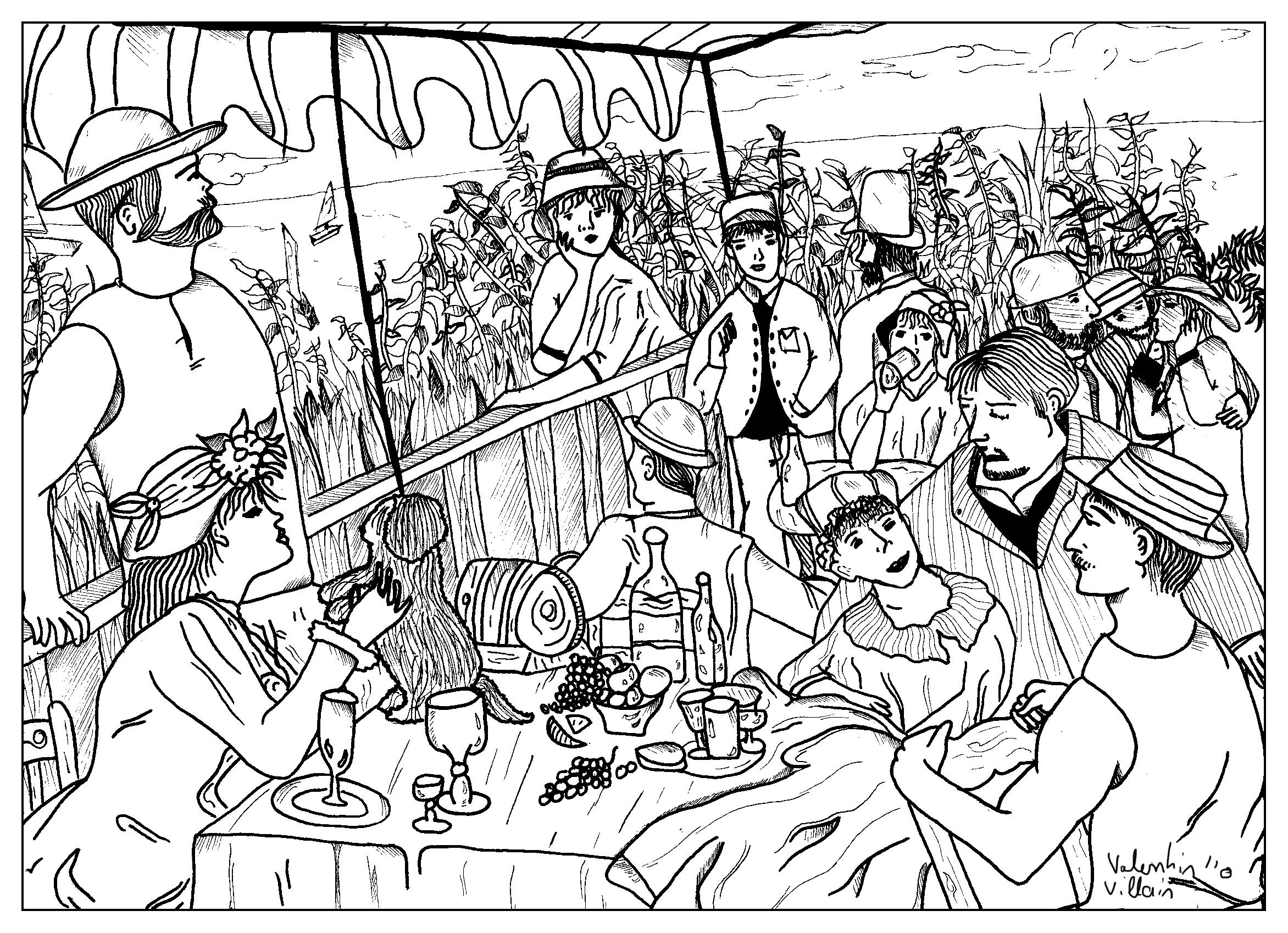 Colorear Cuadros Famosos Impressionist Coloring Pages At Getdrawings Free For
