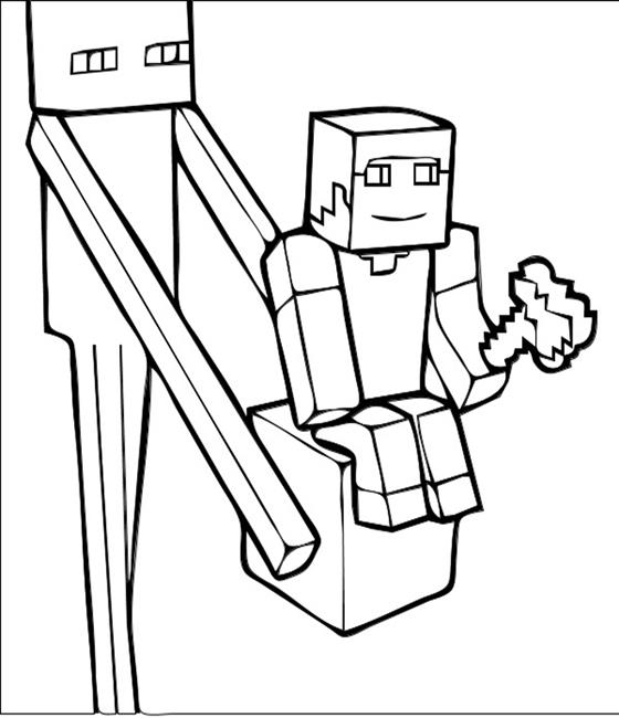 Minecraft Ghast Coloring Pages at GetDrawings Free for