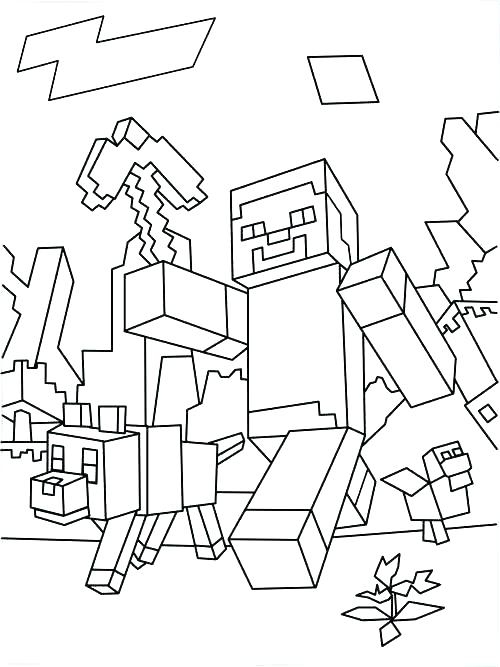 Minecraft Mobs Coloring Pages at GetDrawings Free for personal