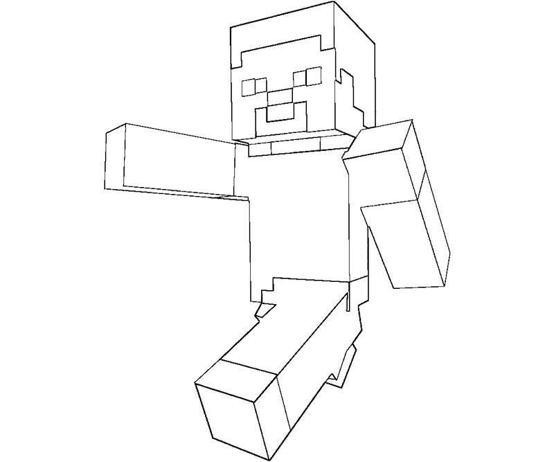 Minecraft Steve Coloring Pages at GetDrawings Free for