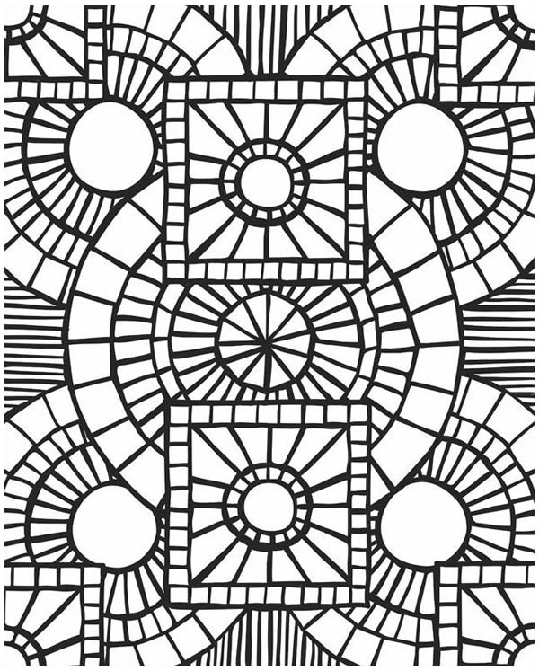 Mosaic Patterns Coloring Pages at GetDrawings Free for