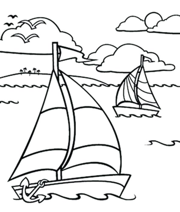 Ocean Waves Coloring Pages at GetDrawings Free for personal