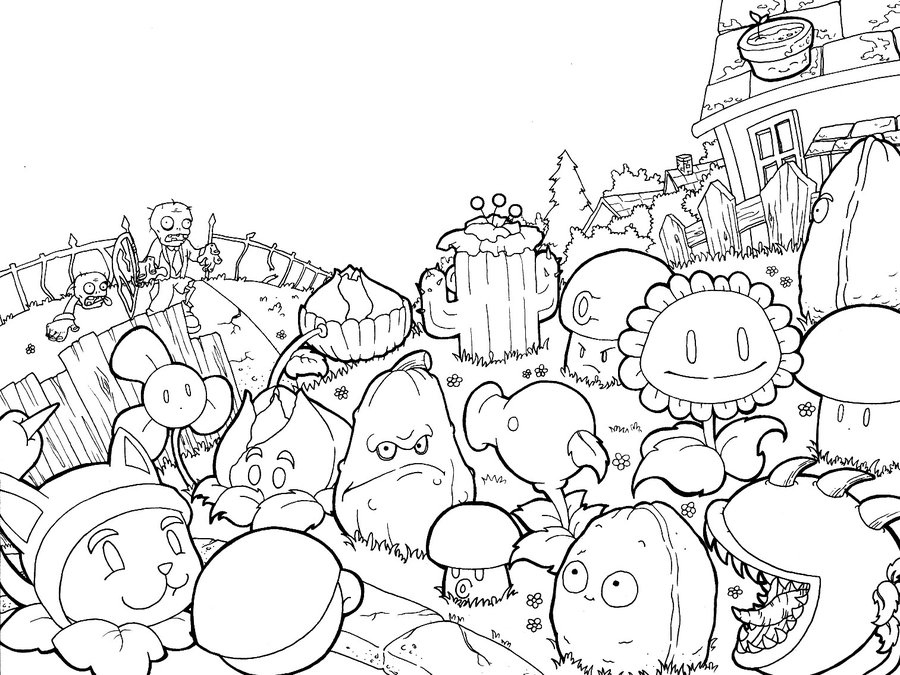 Plants Vs Zombies Silhouette at GetDrawings Free for personal