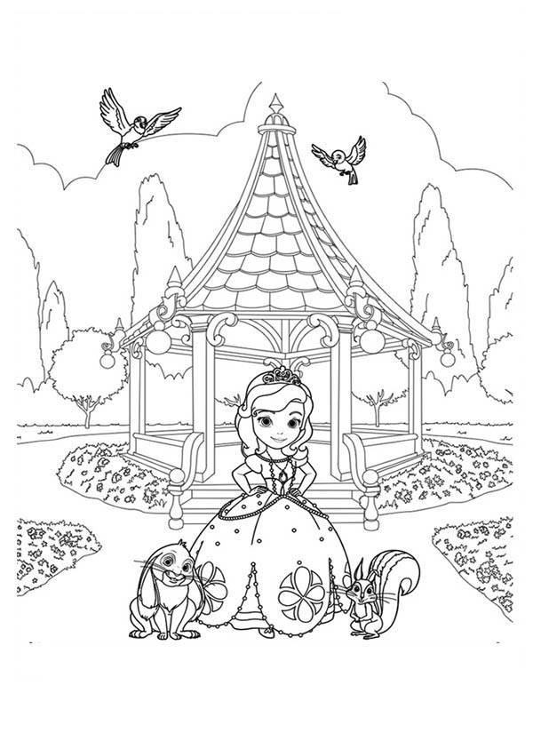Princess Sofia The First Coloring Pages at GetDrawings Free