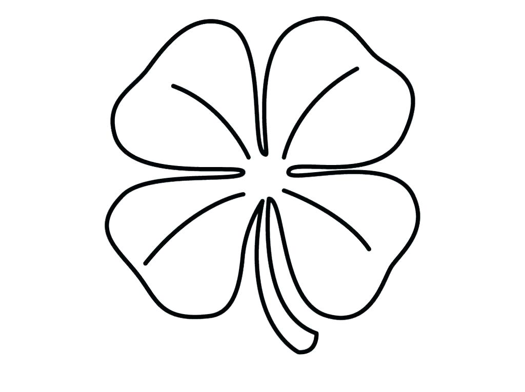 Printable Shamrock Coloring Pages at GetDrawings Free for