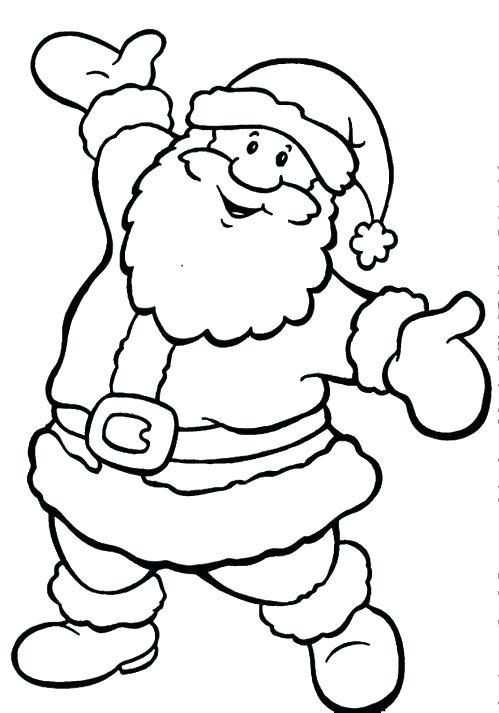 Santa Coloring Pages Printable Free at GetDrawings Free for