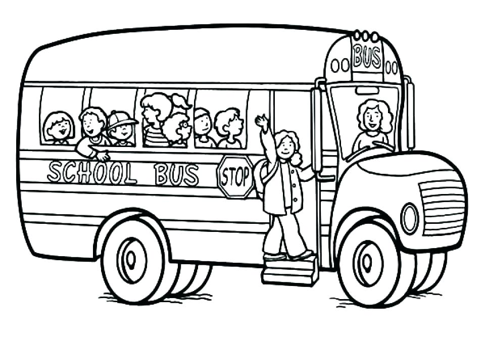 School Bus Printable Coloring Pages at GetDrawings Free for