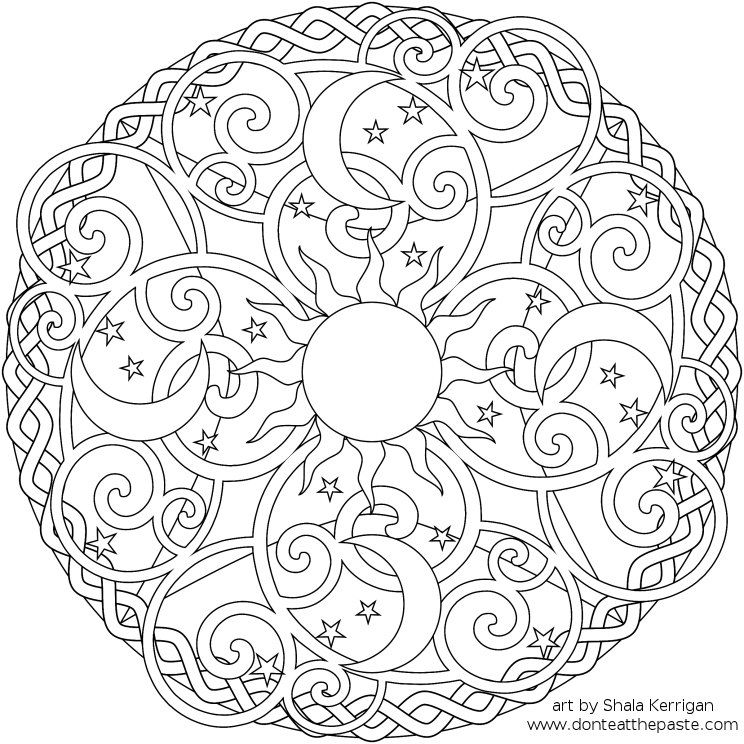 Sun And Moon Coloring Pages at GetDrawings Free for personal