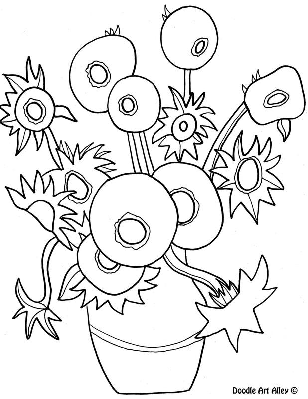 Sunflower Outline Printable. outline flower clip art