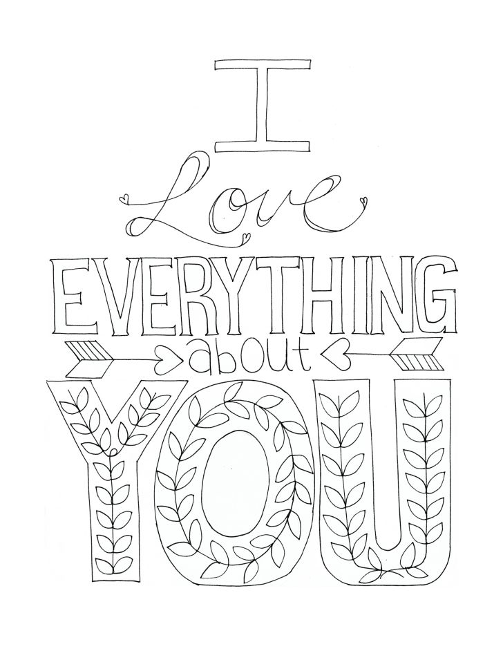 We Love You Coloring Pages at GetDrawings Free for personal