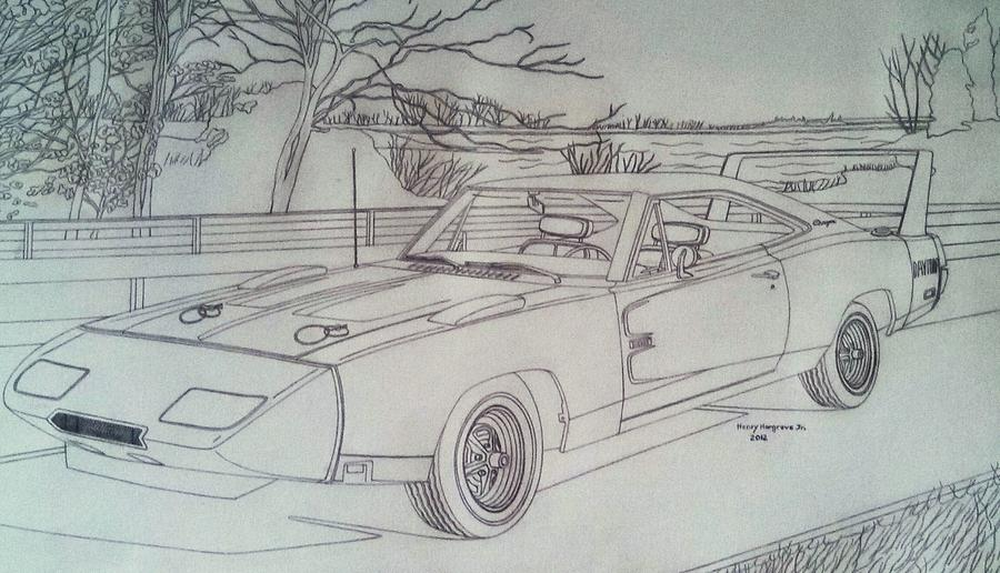 1969 Dodge Charger Drawing at GetDrawings Free for personal