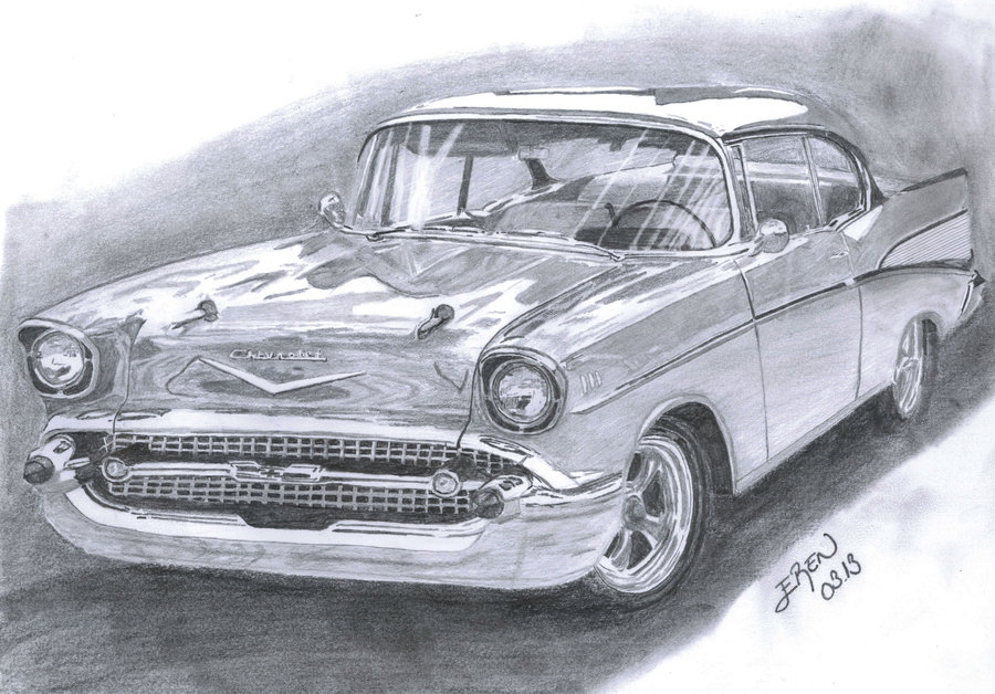57 Chevy Drawing at GetDrawings Free for personal use 57 Chevy