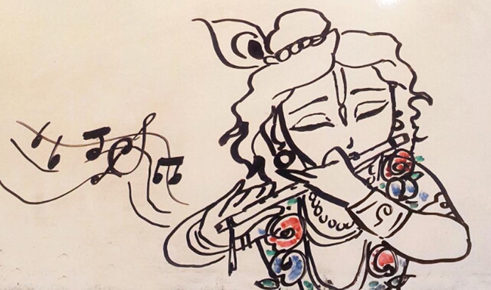 Cute Baby Feet Wallpaper Baby Krishna Drawing At Getdrawings Com Free For
