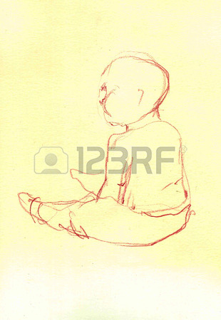 Baby Sitting Drawing at GetDrawings Free for personal use Baby