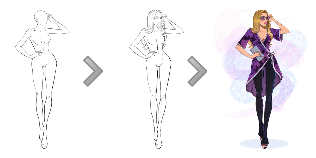 Blank Body Drawing at GetDrawings Free for personal use Blank - blank fashion design templates