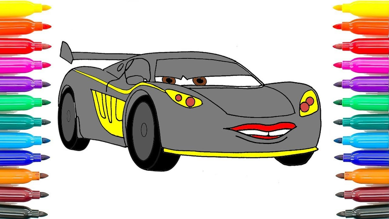 Cars Pixar Lewis Hamilton Cars 2 Drawing At Getdrawings Free For Personal Use