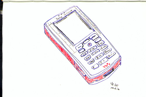 Cell Phone Drawing at GetDrawings Free for personal use Cell