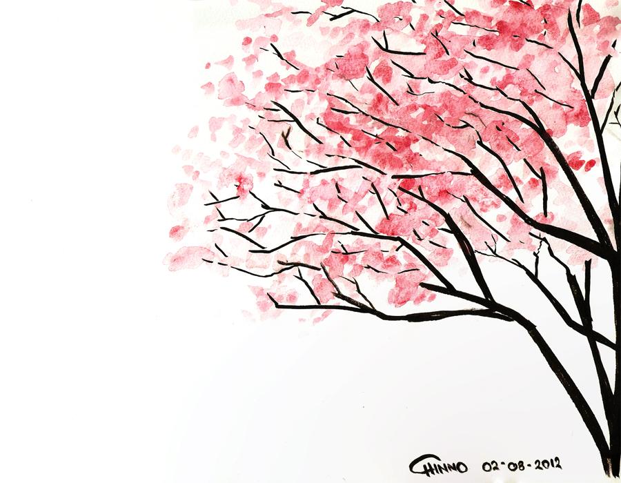 Amazing Cherry Blossom Drawing Tumblr At Getdrawingscom Free