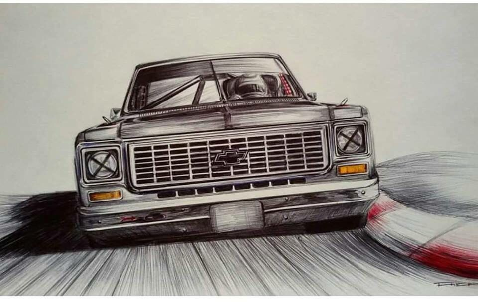 Chevy C10 Drawing at GetDrawings Free for personal use Chevy