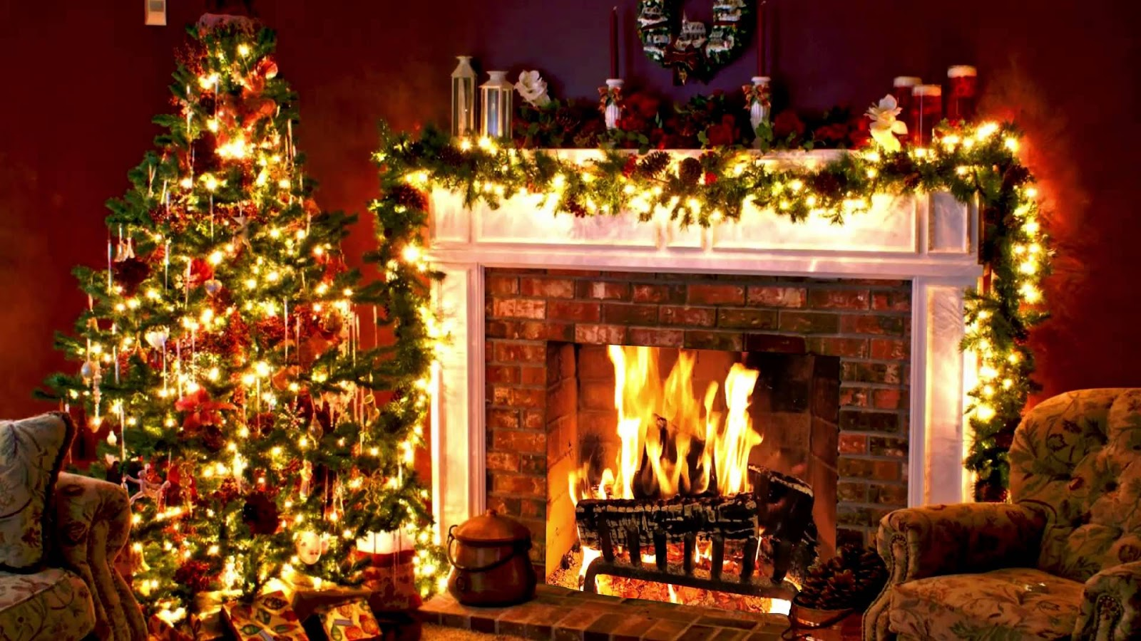 Christmas Fireplace Wallpaper Christmas Fireplace Drawing At Getdrawings Free For Personal