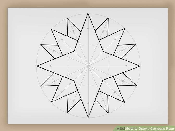 Compass Rose Drawing at GetDrawings Free for personal use