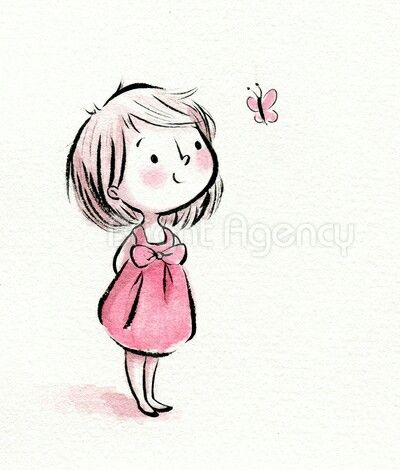 Cute Baby Girl Drawing at GetDrawings Free for personal use