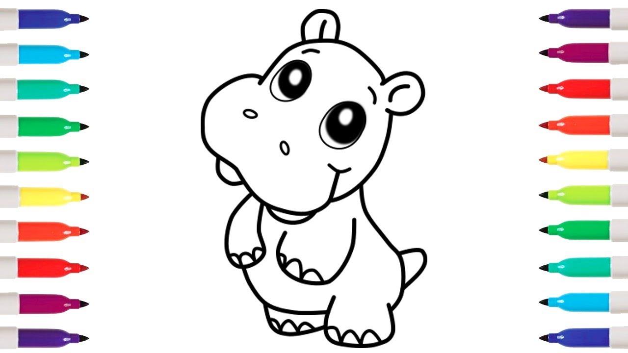 Easy Hippopotamus Drawings Www Topsimages Com