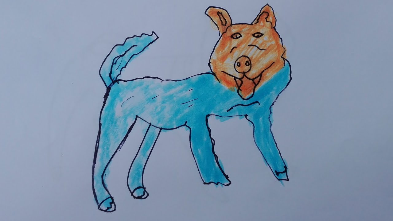 Fullsize Of Realistic Dog Drawing
