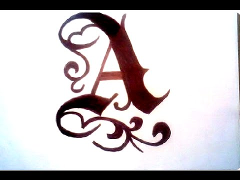 Fancy Alphabet Letters Drawing at GetDrawings Free for
