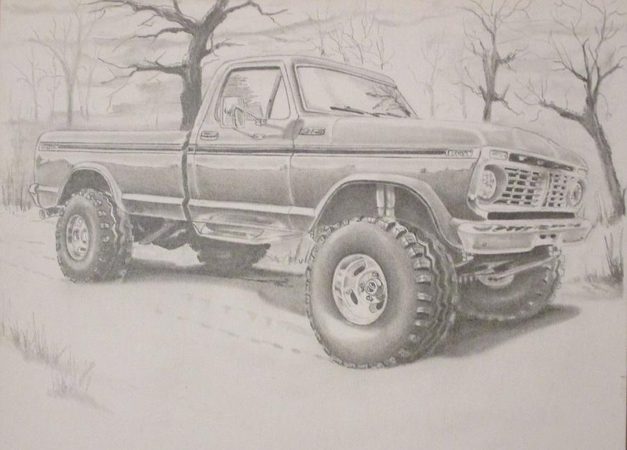 Ford Truck Drawing at GetDrawings Free for personal use Ford
