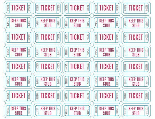 Free Printable Drawing Tickets at GetDrawings Free for