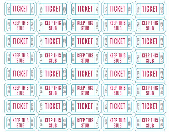 Free Printable Drawing Tickets at GetDrawings Free for - free raffle tickets template