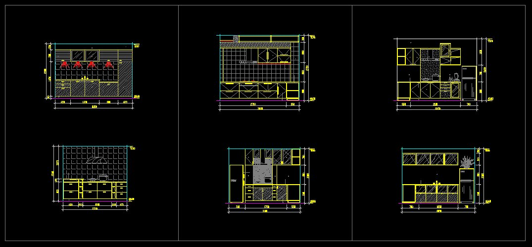 Kitchen Autocad Drawing at GetDrawings Free for personal use