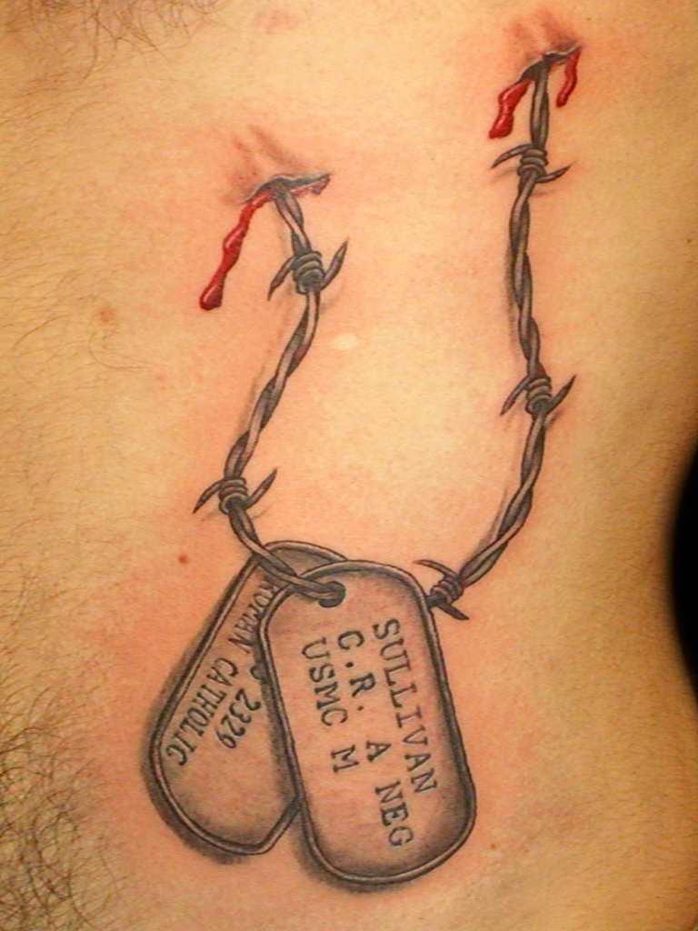 Preferential Military Dog Tag Drawing At Free Military Dog Tags Tattoo Real Images Personal Use Dog Memorial Tattoos On Wrist Dog Memorial Tattoos Paw Print bark post Dog Memorial Tattoos